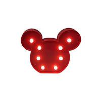 Ночник Kronos Top Микки Маус Красный stet1238,2, КОД: 943764