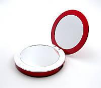 Зеркало косметическое SmartMirror с LED подсветкой Power Bank 3000Mah Красное SM-L2-R, КОД: 1782362
