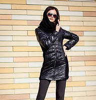 Куртка демисезонная женская с шарфом 44-54 р-р, фото 1