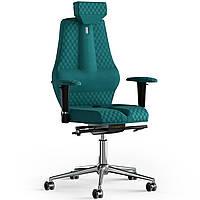 Кресло KULIK SYSTEM NANO Ткань с подголовником со строчкой Аквамарин 16-901-WS-MC-0512, КОД: 1668838