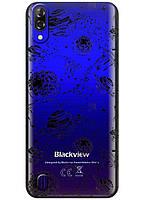 Прозрачный силиконовый чехол iSwag для Blackview A60 с рисунком - Космос H574, КОД: 1429038