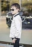 Белая рубашка подросток рубашка в школу для мальчика школьная форма размер:122-146, фото 6