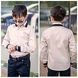 Белая рубашка подросток рубашка в школу для мальчика школьная форма размер:122-146, фото 3