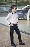 Белая рубашка подросток рубашка в школу для мальчика школьная форма размер:122-146, фото 7