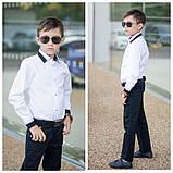 Белая рубашка подросток рубашка в школу для мальчика школьная форма размер:122-146, фото 8