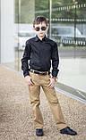 Белая рубашка подросток рубашка в школу для мальчика школьная форма размер:122-146, фото 5