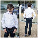 Белая рубашка подросток рубашка в школу для мальчика школьная форма размер:122-146, фото 9