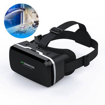 """Видео очки виртуальной реальности 3D Shinecon VR BOX G04A для смартфонов 4.7""""-6.0"""" Android Iphone игр фильмов"""