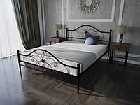 Кровать MELBI Фелиция Двуспальная 140190 см Бордовый лак КМ-004-02-1бор, КОД: 1457197