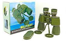 Бинокль BUSHNELL 10х50 MILITARY-2, пластик, стекло, PVC-чехол, оливковый (TY-50CT)