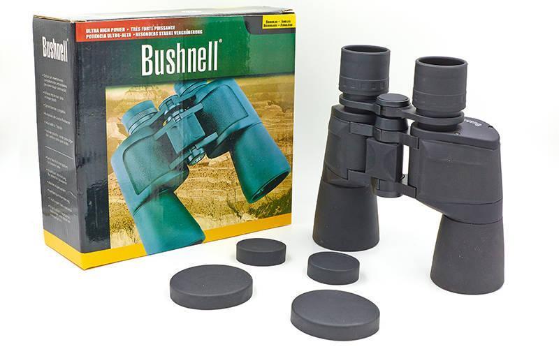 Бинокль BUSHNELL 10х50, пластик, стекло, PVC-чехол, черный (TY-1511)