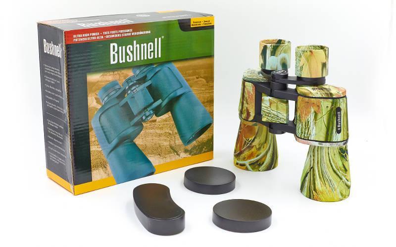 Бинокль BUSHNELL 20х50, пластик, стекло, PVC-чехол, камуфляж (TY-1507)