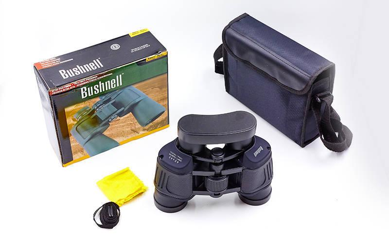 Бинокль BUSHNELL 40х40, пластик, стекло, PVC-чехол, черный (AXT1175)