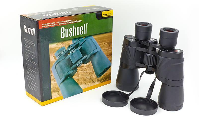 Бинокль BUSHNELL 50х50, пластик, стекло, PVC-чехол, черный (TY-1101)