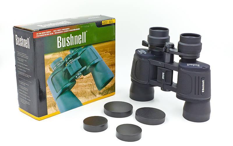 Бинокль BUSHNELL zoom 10-20х40, пластик, стекло, PVC-чехол, черный (TY-1912)
