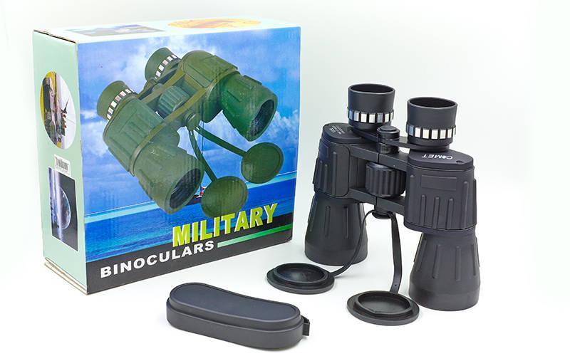 Бинокль COMET 10х50MILITARY-2, пластик, стекло, PVC-чехол, h х l-17см х19см, черный (TY-4356)