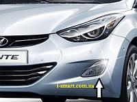 Противотуманные фары Hyundai Elantra MD + проводка + крепление + лампы + кнопка