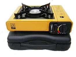 Газовая плита портативна 2 в 1 Tramp TRG-006 Желтый 002510, КОД: 949804