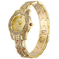 Женские наручные часы Baosaili BSL1030 кварцевые со стразами Gold 3084-8901, КОД: 1529744