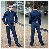 Белая рубашка подросток рубашка в школу для мальчика школьная форма размер:122-146, фото 4