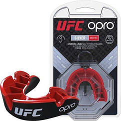 Капа OPRO Silver UFC Hologram Black Red 002259002, КОД: 977681