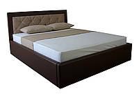 Кровать MELBI Флоренс Двуспальная 160х190 см с подъемным механизмом Коричневый+Бежевый KS-014-02-, КОД: 1670607