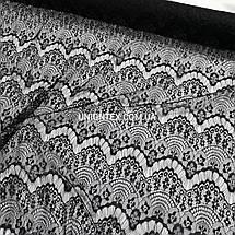 Ткань гипюр реснички тонкий черный, фото 3