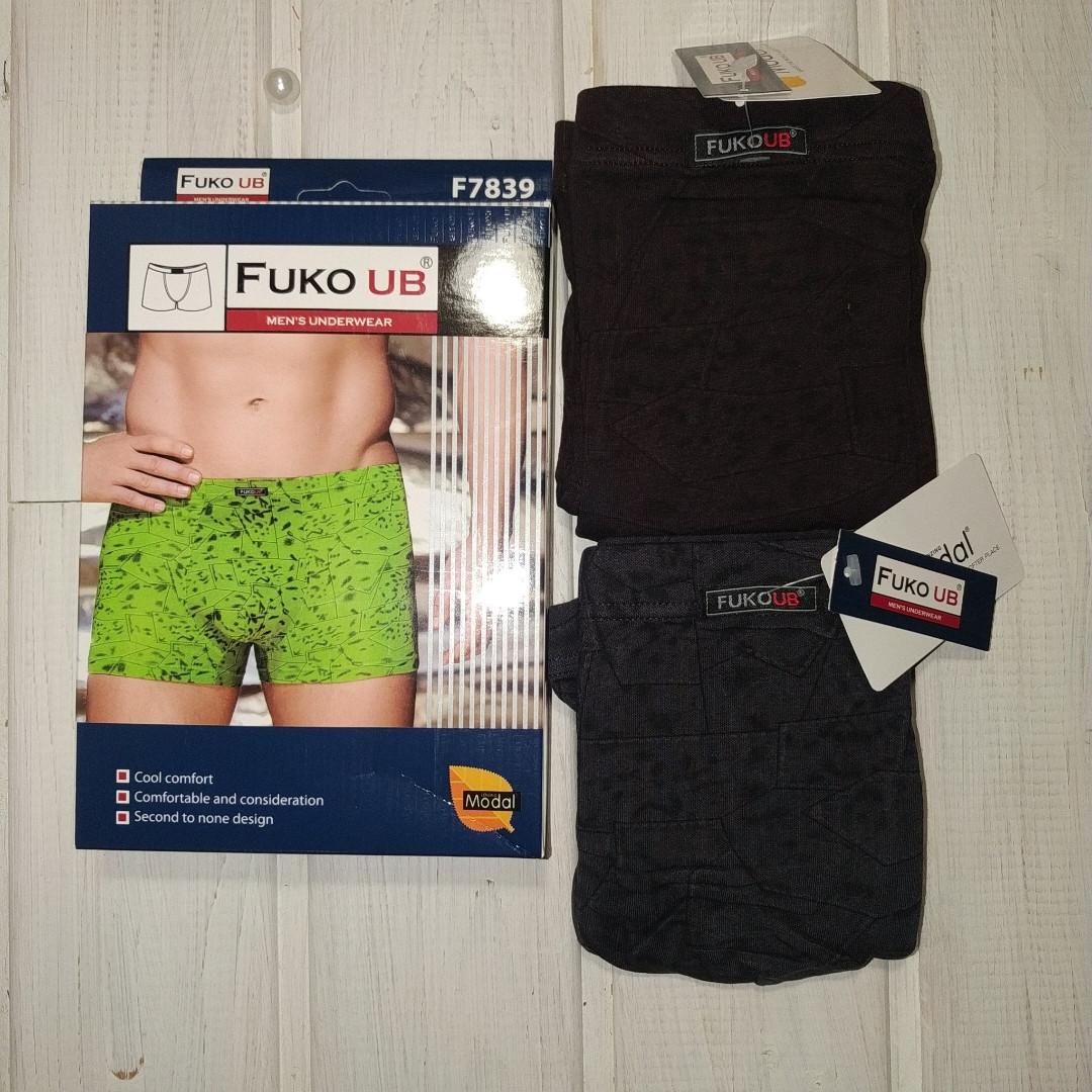 Трусы шорты Fuko Ub 7839  комплект 2шт XXL  серый и красный модал