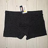 Трусы шорты Fuko Ub 7839  комплект 2шт XXL  серый и красный модал, фото 2