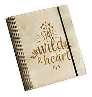 Блокнот Ben Wooden из дерева ручной работы А6 90 листов Stay Wild BW01236, КОД: 1317130