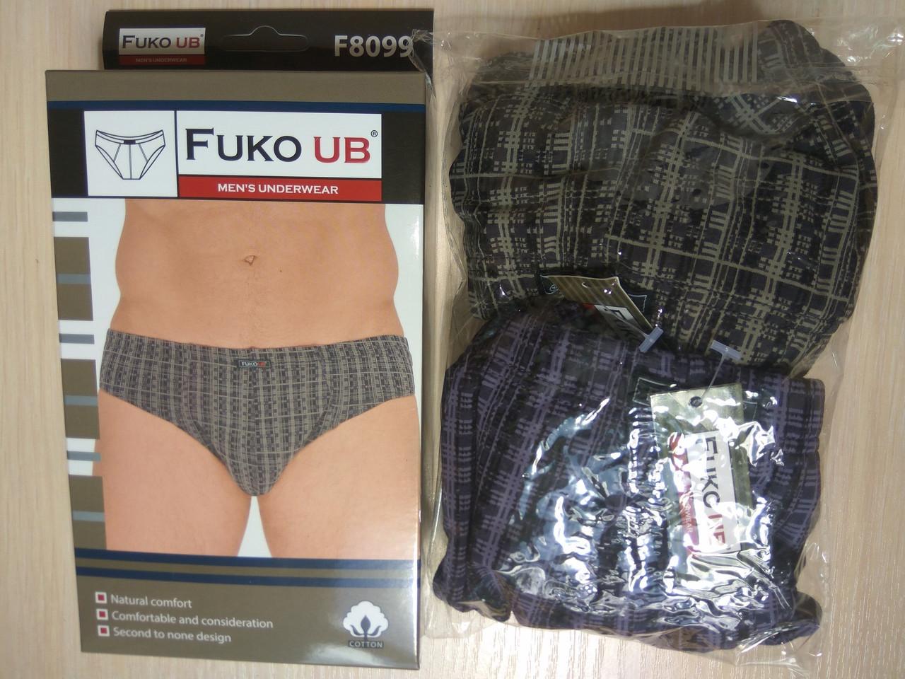 Трусы плавки слипы Fuko Ub 8099  комплект 2шт  3XL  серый и зеленый