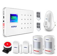 Комплект сигнализации Kerui G18 plus с умной радиорозеткой GFYE746FHBVV, КОД: 1335628