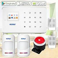 Комплект беспроводной GSM сигнализации Kerui G18 prof, КОД: 1650213