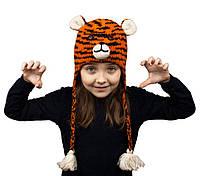 Шапка с ушками детская Animals Tiger red Kathmandu Оne size Оранжевый 23041, КОД: 1597256