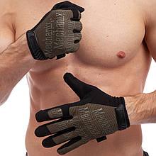 Перчатки тактические с закрытыми пальцами MECHANIX, р-р M-XL, олива (BC-5623)