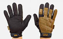 Перчатки тактические с закрытыми пальцами MECHANIX, р-р M-XL, хаки (BC-5623)