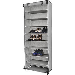 Органайзер для хранение вещей тканевый шкаф для обуви 9 полок Серый