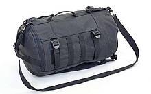 Рюкзак-сумка тактический штурмовой 30 л, нейлон, оксфорд 600D, размер 25х23х10см, черный (TY-6010)