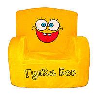 Детское кресло Weber Toys губка боб 55 х 50 х 39 см Желтый 503, КОД: 1463316