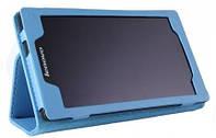 Кожаный чехол-книжка для планшета Lenovo Tab 2 A7-10 TTX с функцией подставки Голубой