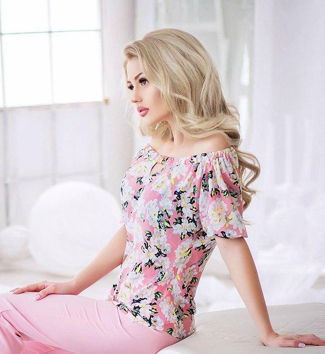 Блуза женская летняя открытые плечи р.36(42),38(44) Код 728Ю