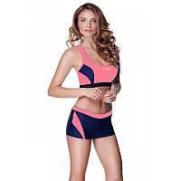 Женский раздельный купальник Aqua Speed Fiona Спортивный 38 Сине-розовый aqs084, КОД: 961441