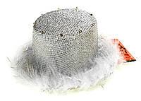 Обруч на праздники Folare Шляпка LED Белый M16-270025, КОД: 1760524