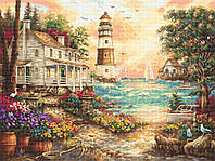 Набор для вышивания нитками LETISTITCH Cottage by the sea (LETI 962)