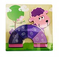 Деревянная игрушка Пазлы Metr+ MD 0904 Овечка 3956-11448, КОД: 1528426