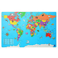 Развивающий коврик Мозаика Bambi M 2612 Карта мира intM 2612, КОД: 1142978