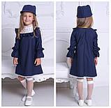 Школьный сарафан для девочки классический школьная форма черного синего цвета рост:116-146 см, фото 2