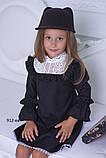 Школьный сарафан для девочки классический школьная форма черного синего цвета рост:116-146 см, фото 3