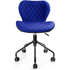 Офисный стул Vecotti вращающийся экокожа Синий