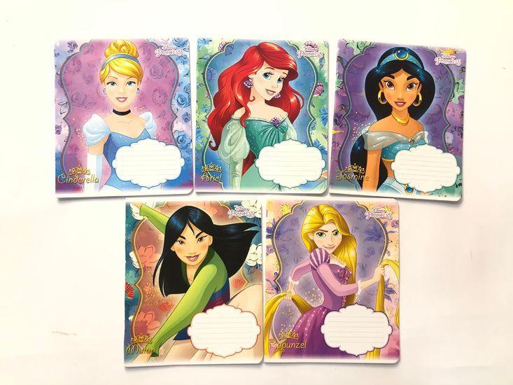 Тетрадь школьная в клеточку 12 листов Тетрада, принцессы Disney